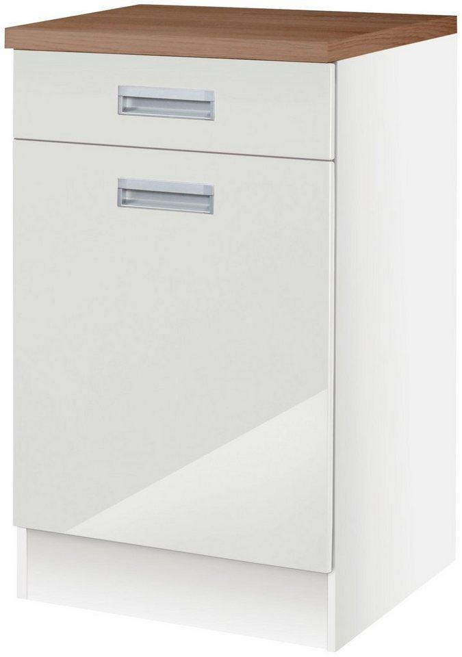 Küchenunterschrank »Fulda«, Breite 50 cm in weiß