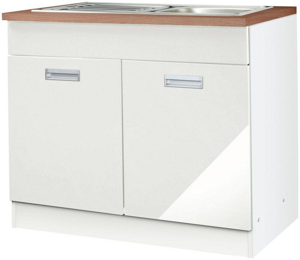 Spülenschrank »Fulda«, Breite 100 cm in weiß