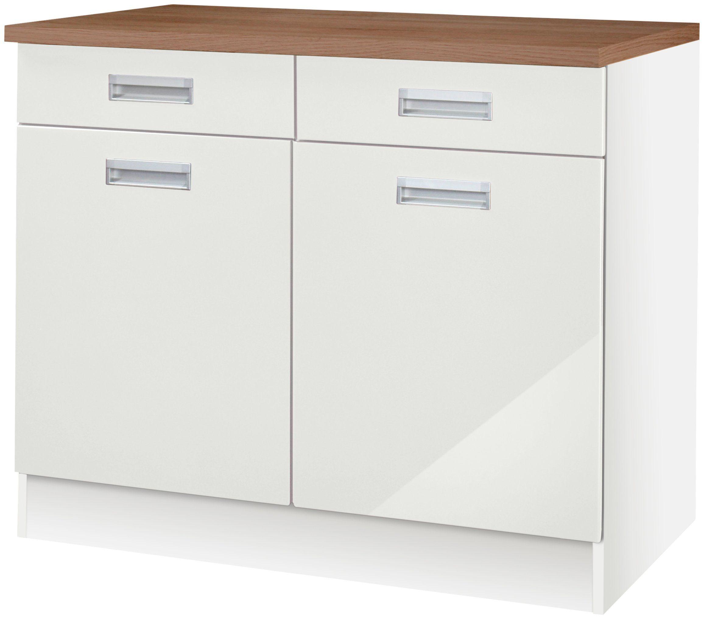Großartig HELD MÖBEL Küchenunterschrank »Fulda, Breite 100 cm« online kaufen  PQ18