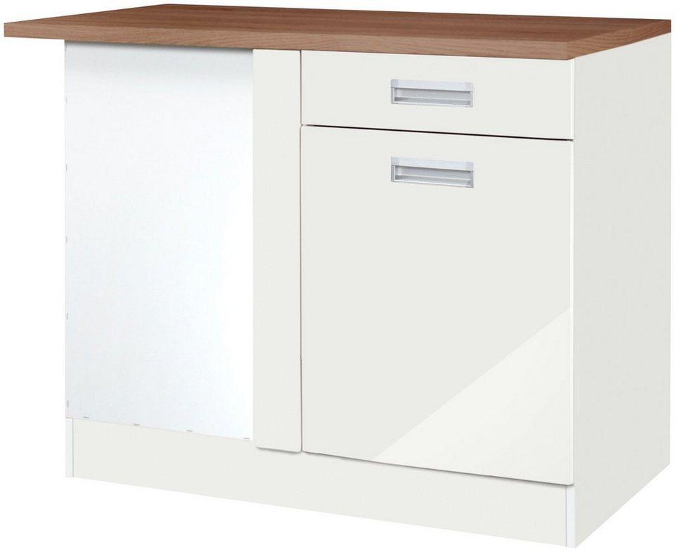 Eckunterschrank »Fulda«, Breite 110 cm in weiß