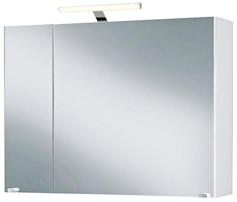 Spiegelschrank »Malmö« Breite 80 cm, mit LED-Beleuchtung in weiß