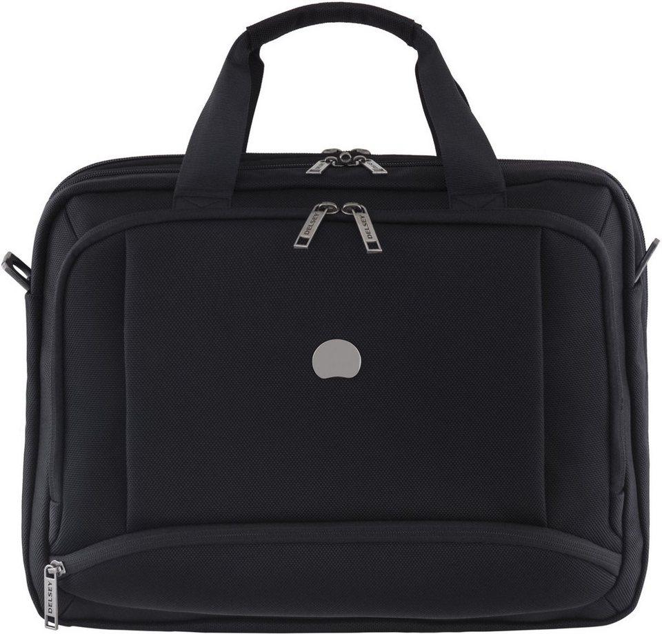 DELSEY Businesstasche mit Laptopfach und Volumenerweiterung, »Montmartre Pro« in schwarz