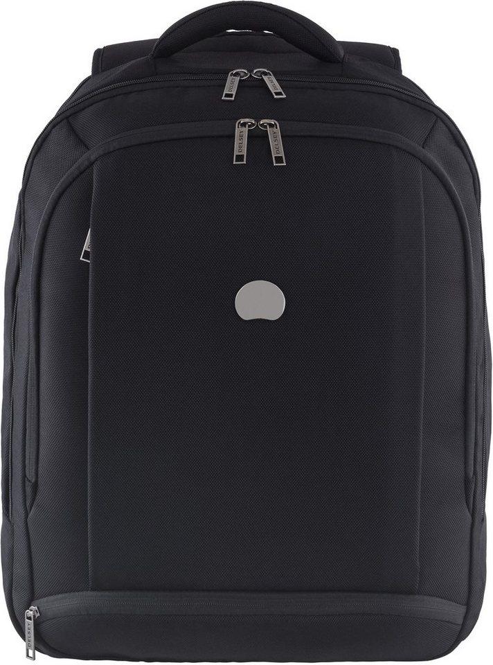 DELSEY Rucksack mit gepolstertem Laptopfach und Volumenerweiterung, »Montmartre Pro - L« in schwarz
