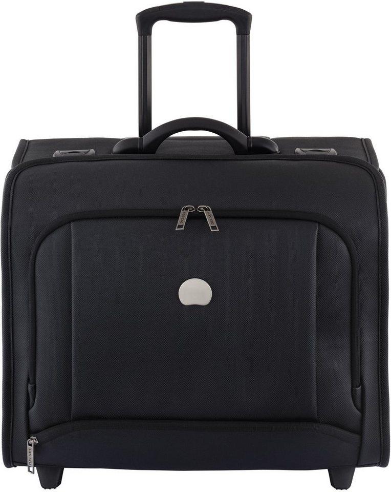 DELSEY Piloten Kabinentrolley mit 15,6-Zoll Laptopfach und 2 Rollen, »Montmartre Pro« in schwarz