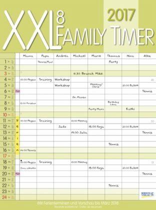 Kalender »XXL Family Timer 8 2017«