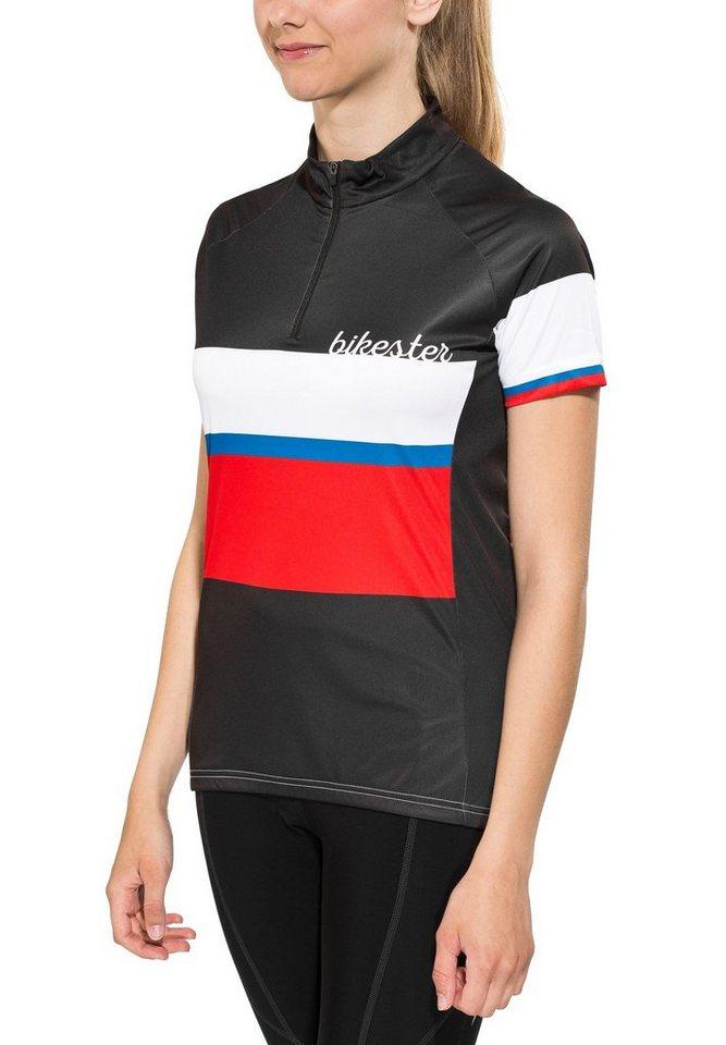 Bikester Radtrikot »Basic Team Jersey Women« in schwarz