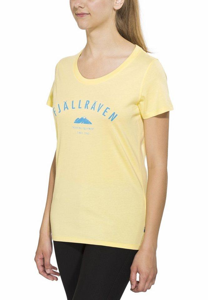 Fjällräven T-Shirt »Trekking Equipment T-shirt Women« in gelb