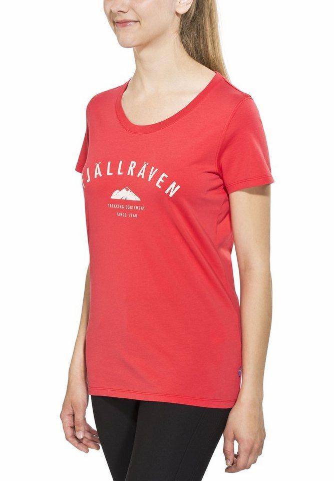 FJÄLLRÄVEN T-Shirt »Trekking Equipment T-shirt Women« in rot