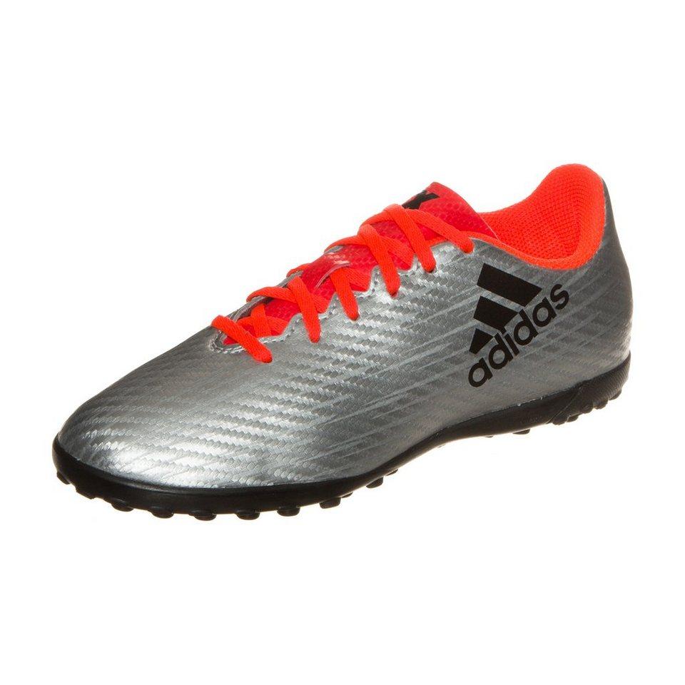 adidas Performance X 16.4 TF Fußballschuh Kinder in silber / orange