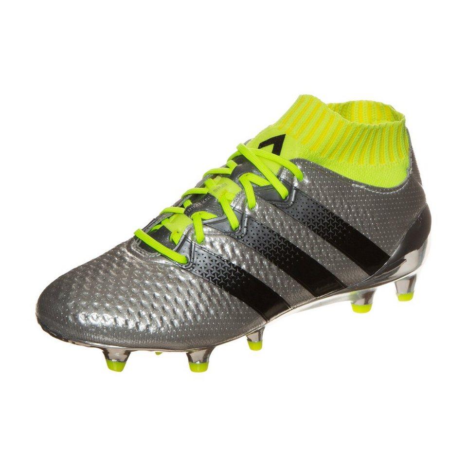 adidas Performance ACE 16.1 Primeknit FG Fußballschuh Kinder in silber / schwarz
