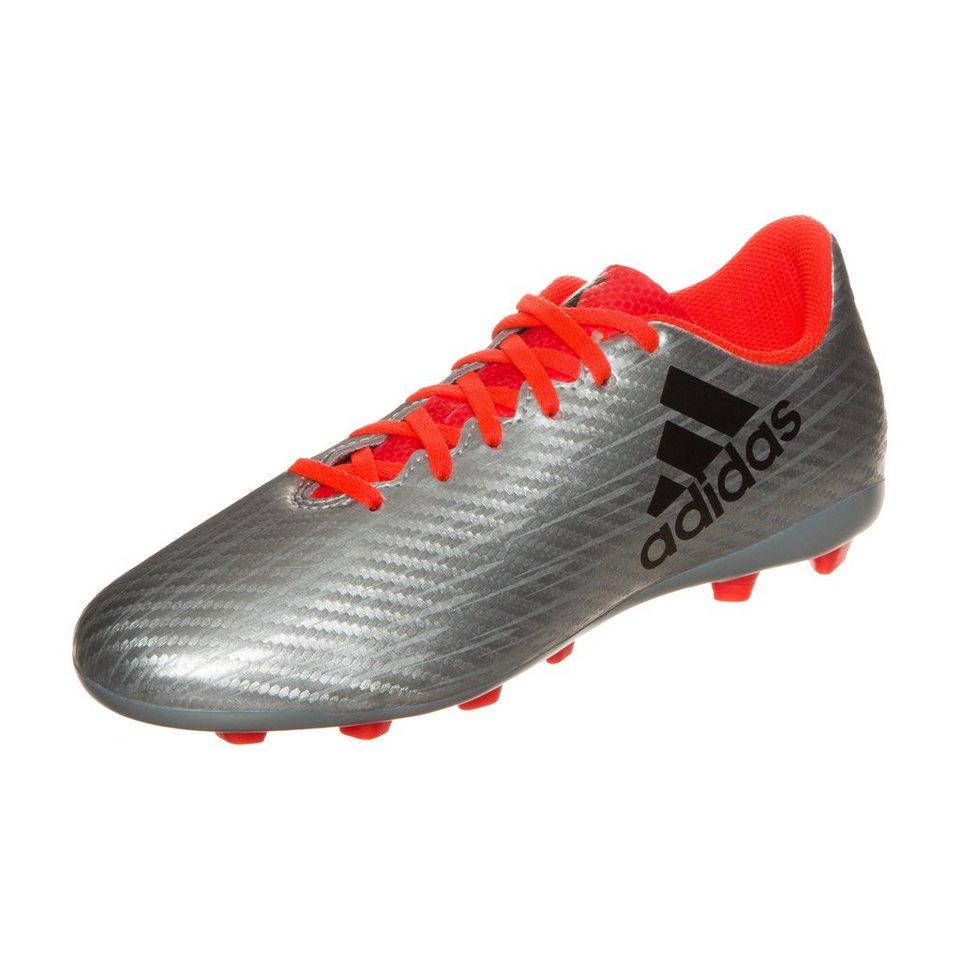adidas Performance X 16.4 FxG Fußballschuh Kinder in silber / orange