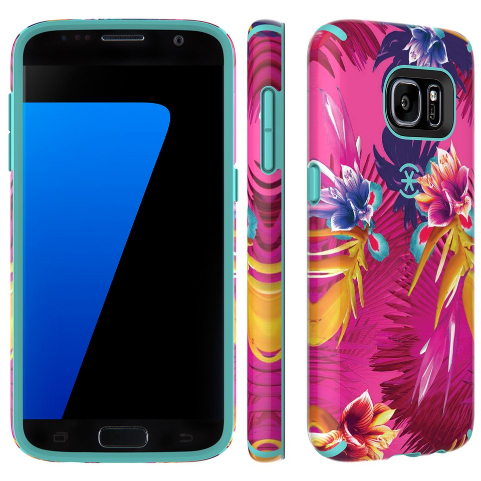 Speck HardCase »CandyShell Inked Samsung Galaxy S7 Wild Tropic Fuc« in mehrfarbig