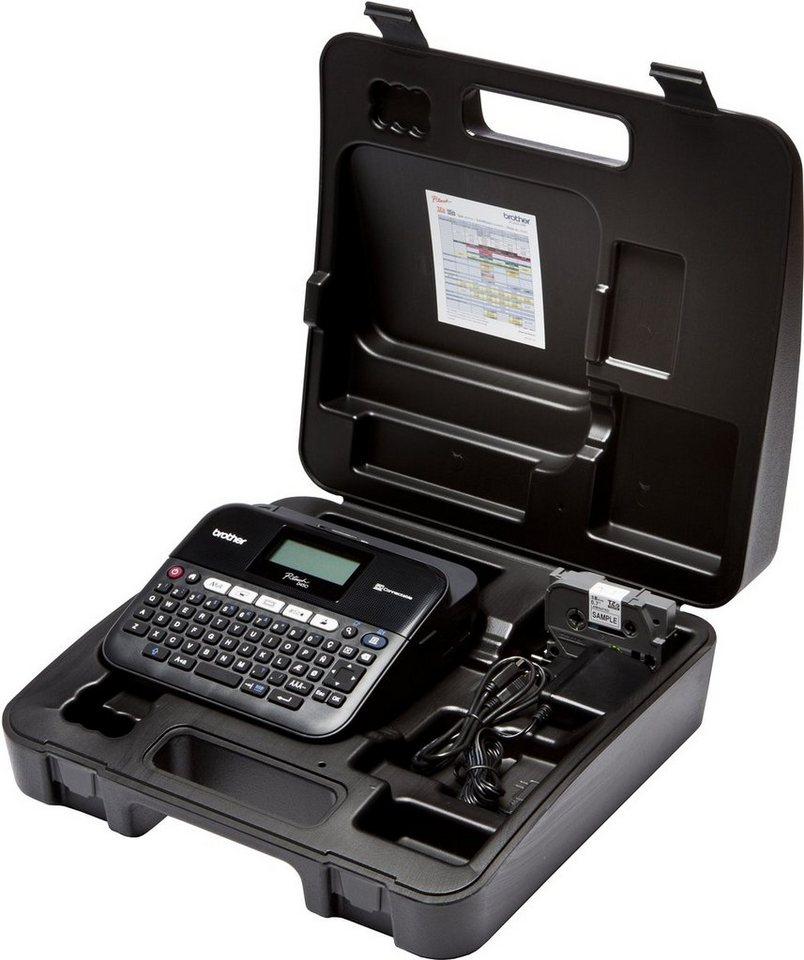 Brother Beschriftungsgerät »P-touch D450VP Desktop Beschriftungsgerät+Koffer« in Schwarz