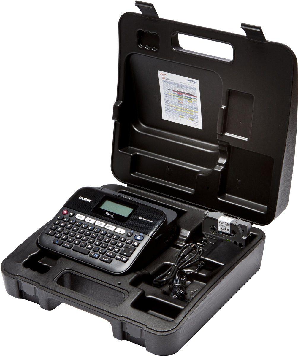 Brother Beschriftungsgerät »P-touch D450VP Desktop Beschriftungsgerät+Koffer«