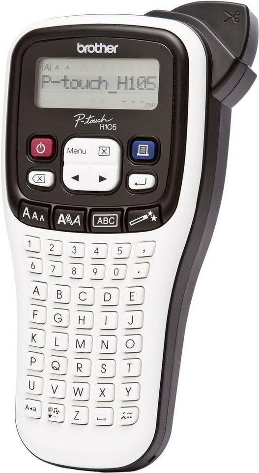 Brother Beschriftungsgerät »P-touch PT-H105WB Mobiles Beschriftungsgerät« in Weiß-Schwarz