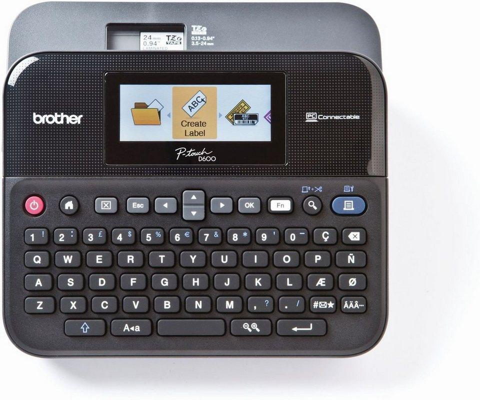 Brother Beschriftungsgerät »P-touch D600VP Desktop Beschriftungsgerät+Koffer« in Schwarz