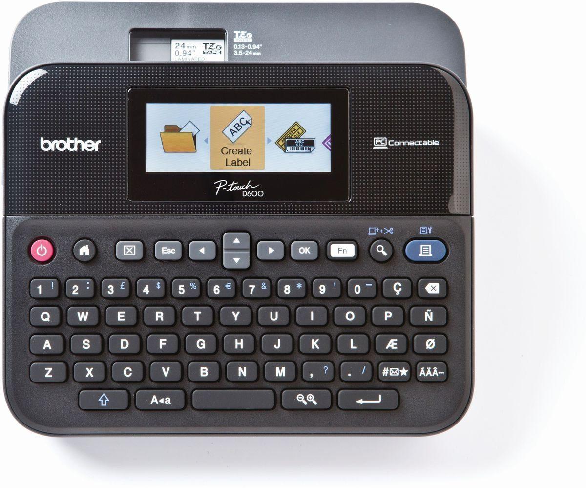 Brother Beschriftungsgerät »P-touch D600VP Desktop Beschriftungsgerät+Koffer«