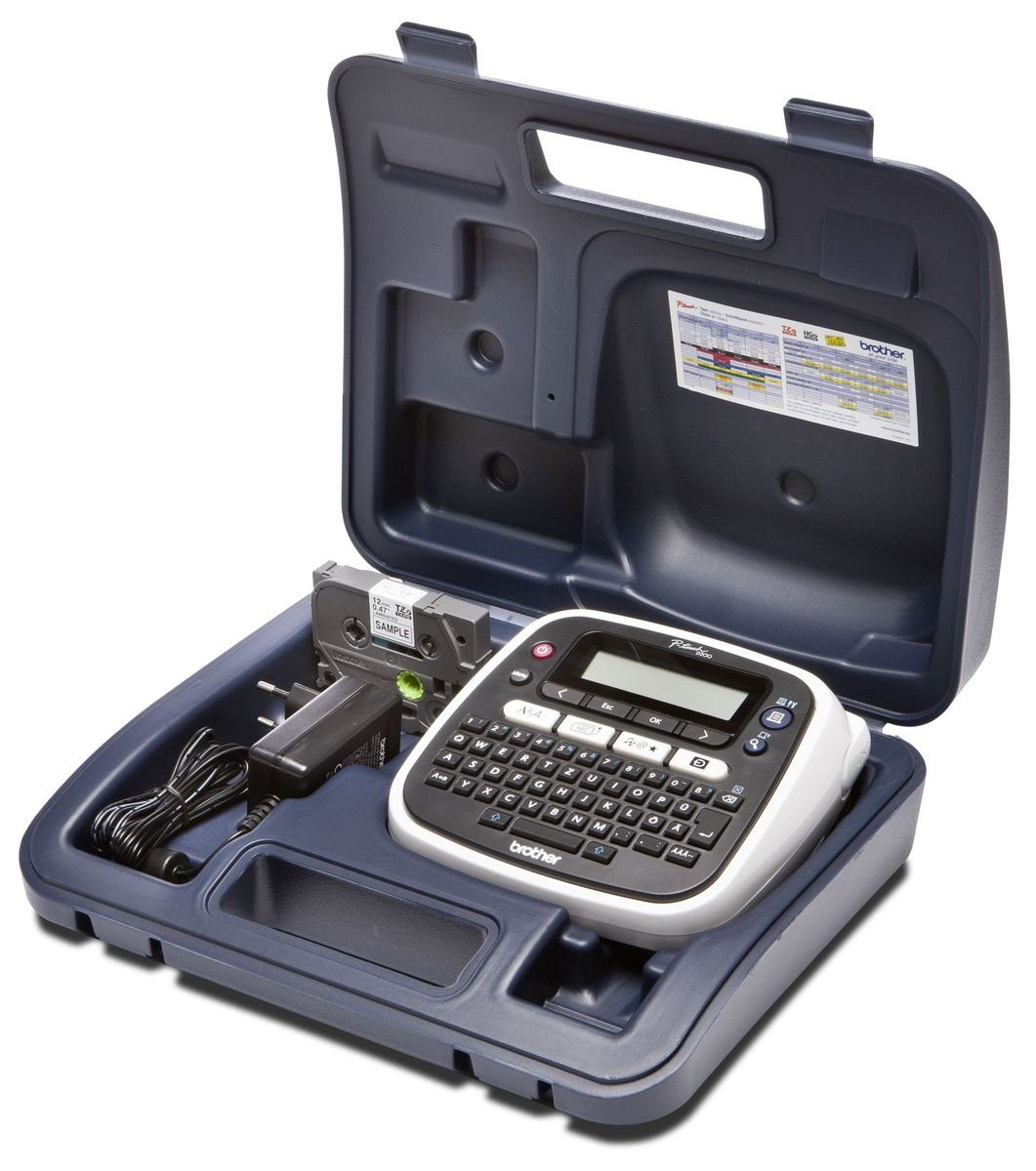 Brother Beschriftungsgerät »P-touch PT-D200BWVP Desktop Beschrifter mit Koffer«