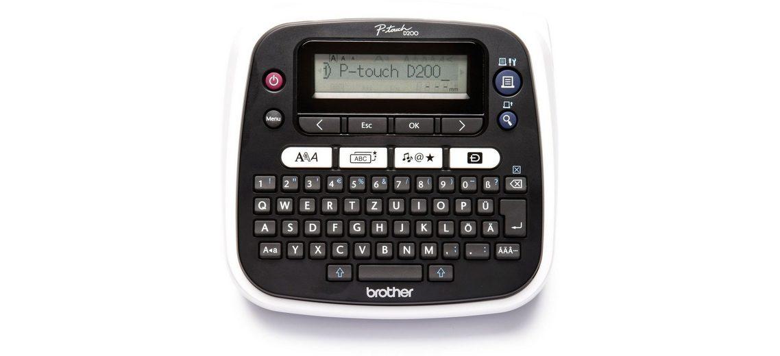 Brother Beschriftungsgerät »P-touch PT-D200BW Desktop Beschriftungsgerät«