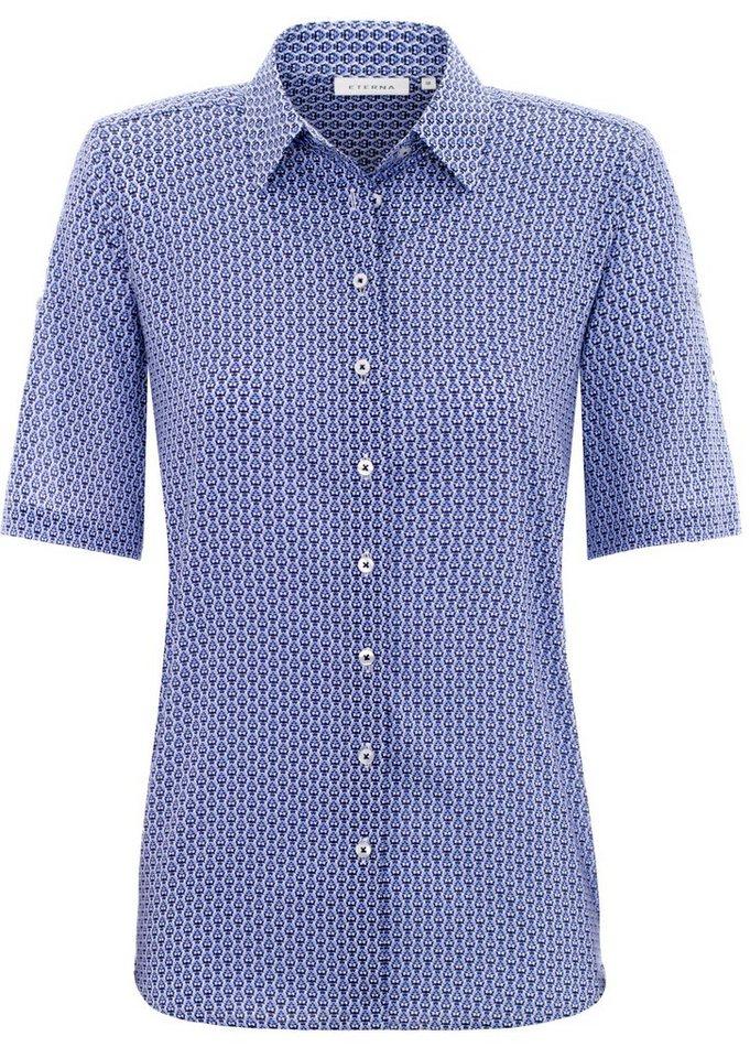 ETERNA 1/2-Arm Bluse »COMFORT FIT« in kornblumenblau