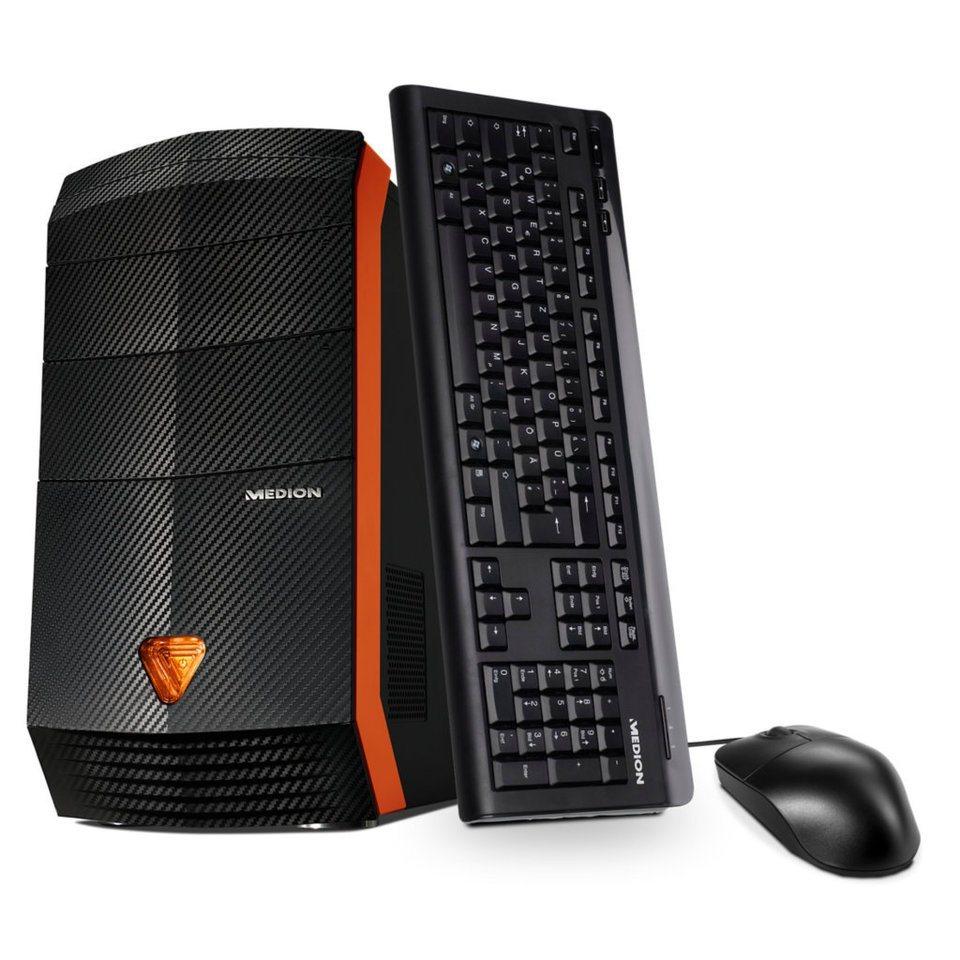 MEDION® PC, ERAZER® X5333 F »2 TB HDD, 256 GB SSD, GeForce® GTX 980« in schwarz