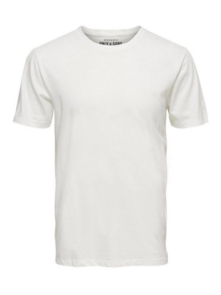 ONLY & SONS Einfarbiges T-Shirt in White