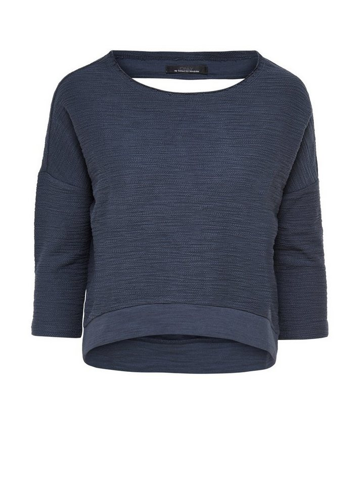Only Kurz geschnittenes Sweatshirt in Ombre Blue