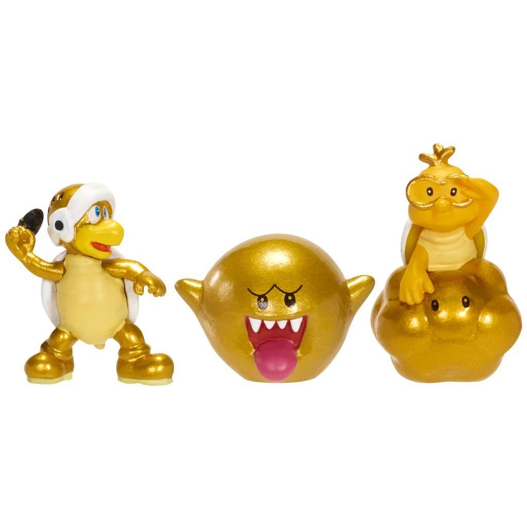 Jakks Pacific Spielwaren »Nintendo Figur Micro 3er Pack W3-Gold Lakitu,Gold«