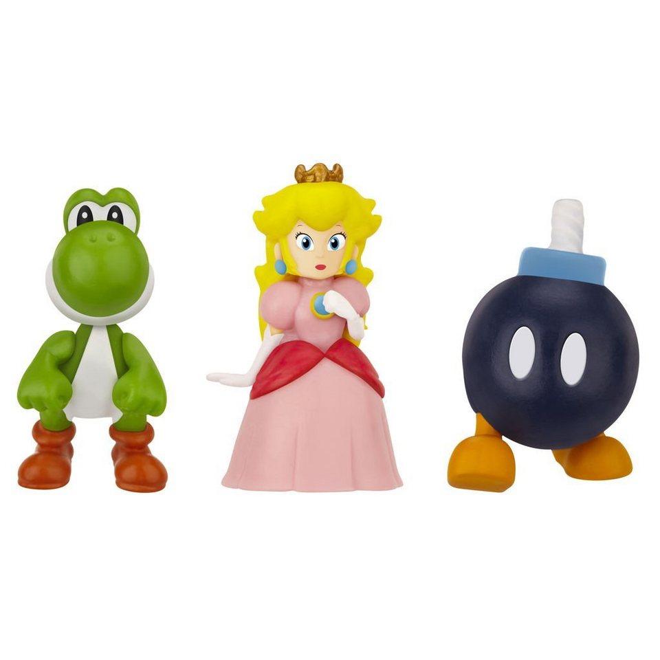 Jakks Pacific Spielwaren »Nintendo Micro Figur 3er Pack-Bob-Om,Peach,Yoshi«
