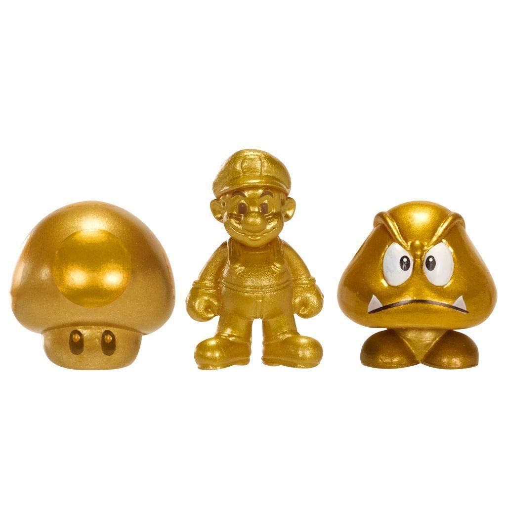 Jakks Pacific Spielwaren »Nintendo Figur Micro 3er Pack W3-Gold Mario,Gold M«