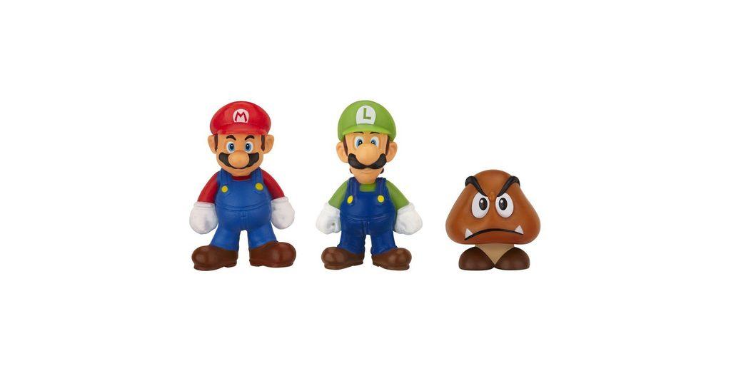 Jakks Pacific Spielwaren »Nintendo Micro Figur 3er Pack-Mario,Luigi,Goomba«