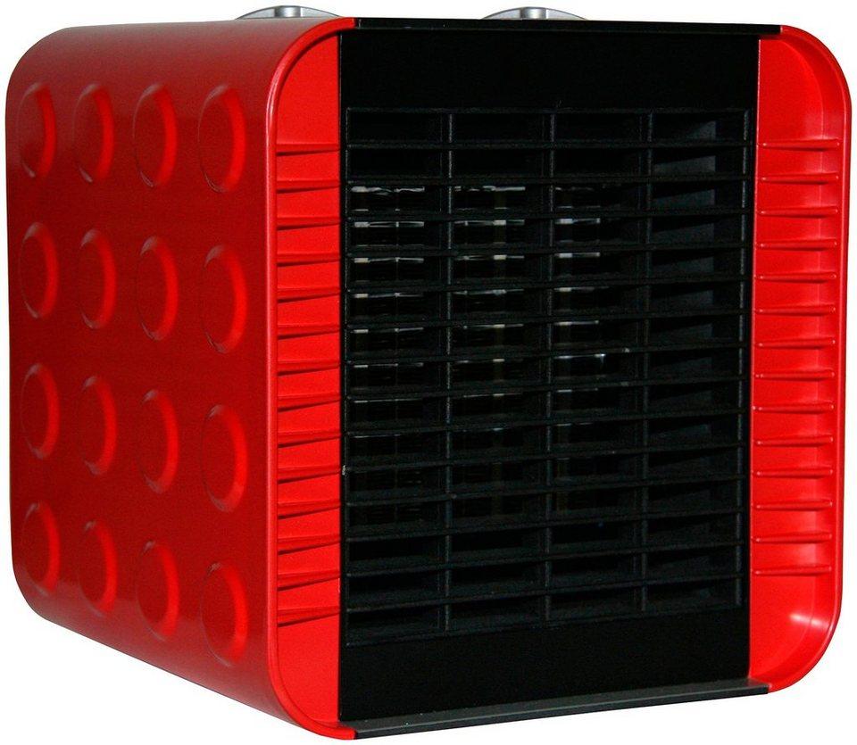 Heizlüftgerät »Cuby «, rot, 1500 Watt in rot