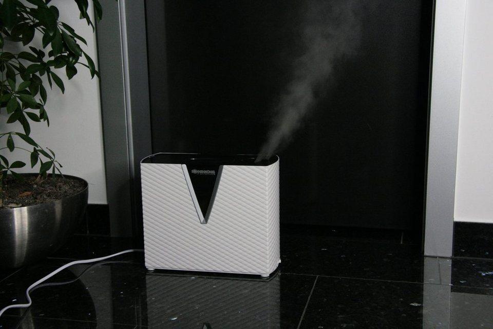 Luftbefeuchter »Liverpool«, weiß, Entkalkungspatrone, antibakterieller Wassertank in weiß