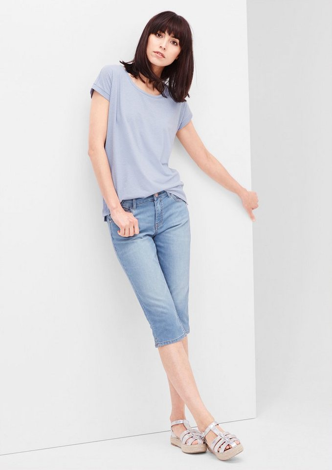 s.Oliver RED LABEL Shape Capri: Schmale Jeans in blue denim stretch
