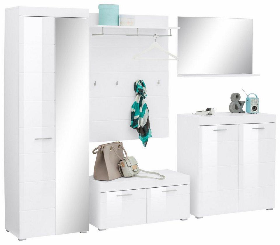 Garderoben set amanda 5 tlg online kaufen otto for Garderobe 85 cm breit