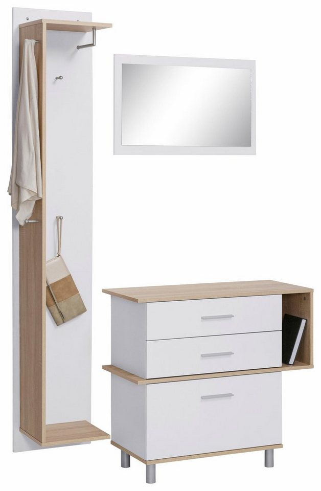 Garderoben-Set »Cube« (3-tlg.) in weiß/eichefb.