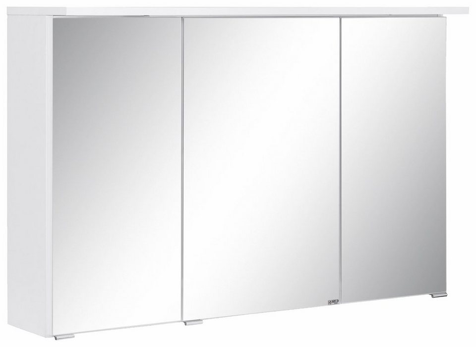 Held Möbel Spiegelschrank »Ravenna«, Breite 100 cm in weiß