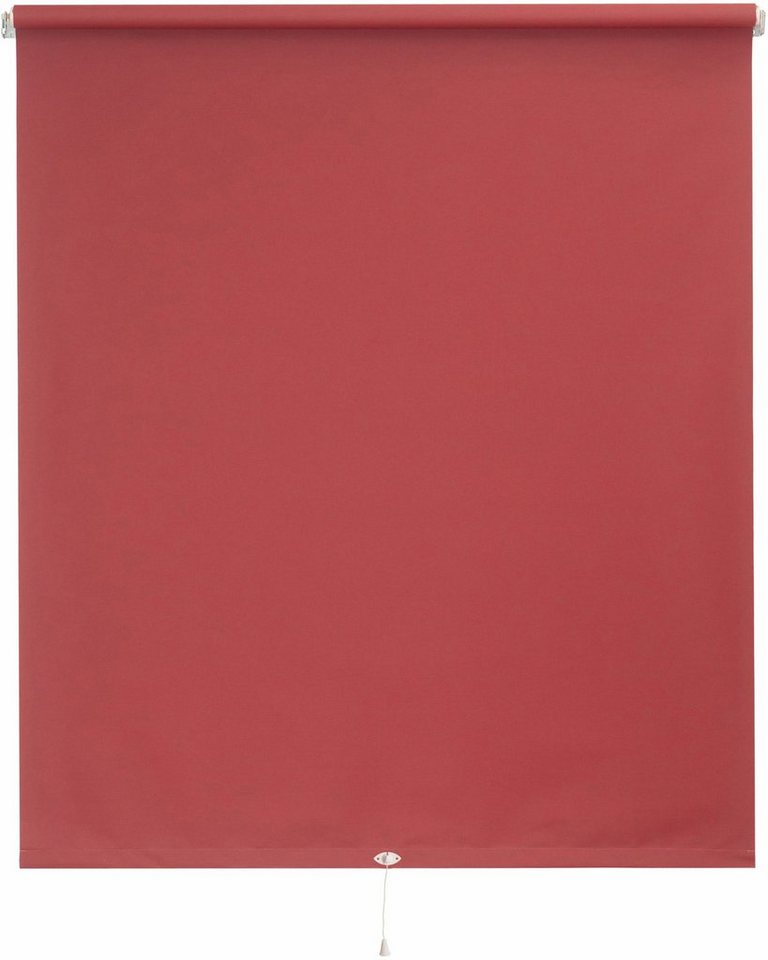 Springrollo, Sunlines, »Uni«, im Fixmaß (1 Stück), Verdunkelung in rot