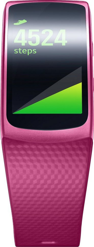 Samsung Gear Fit 2 Größe: L Smartwatch, Tizen, 3,86 cm (1,5 Zoll) AMOLED- Display in Pink