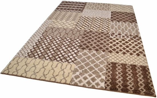 Teppich »PATTERN PATCH«, TOM TAILOR, rechteckig, Höhe 12 mm, Exklusiv bei OTTO, Wohnzimmer