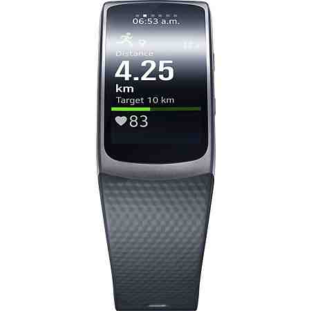 Samsung Gear Fit 2 Größe: L Smartwatch, Tizen, 3,86 cm (1,5 Zoll) AMOLED- Display