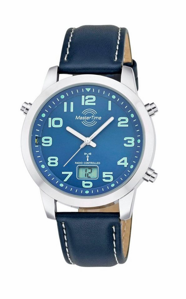 MASTER TIME Funkuhr »MTGA-10458-32L« in blau