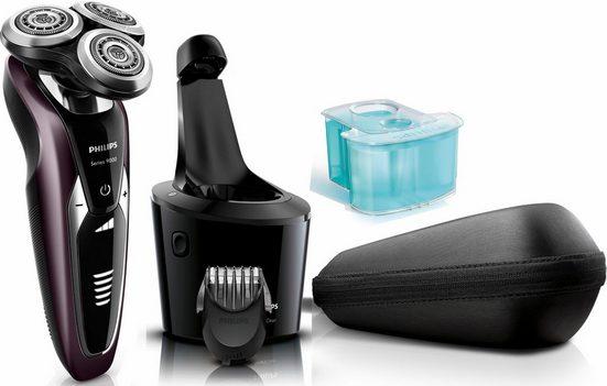 Philips Elektrorasierer Series 9000 S9521/31, SmartClean-Plus-Reinigungsstation, Aufsätze: 1, Langhaartrimmer, Wet&Dry