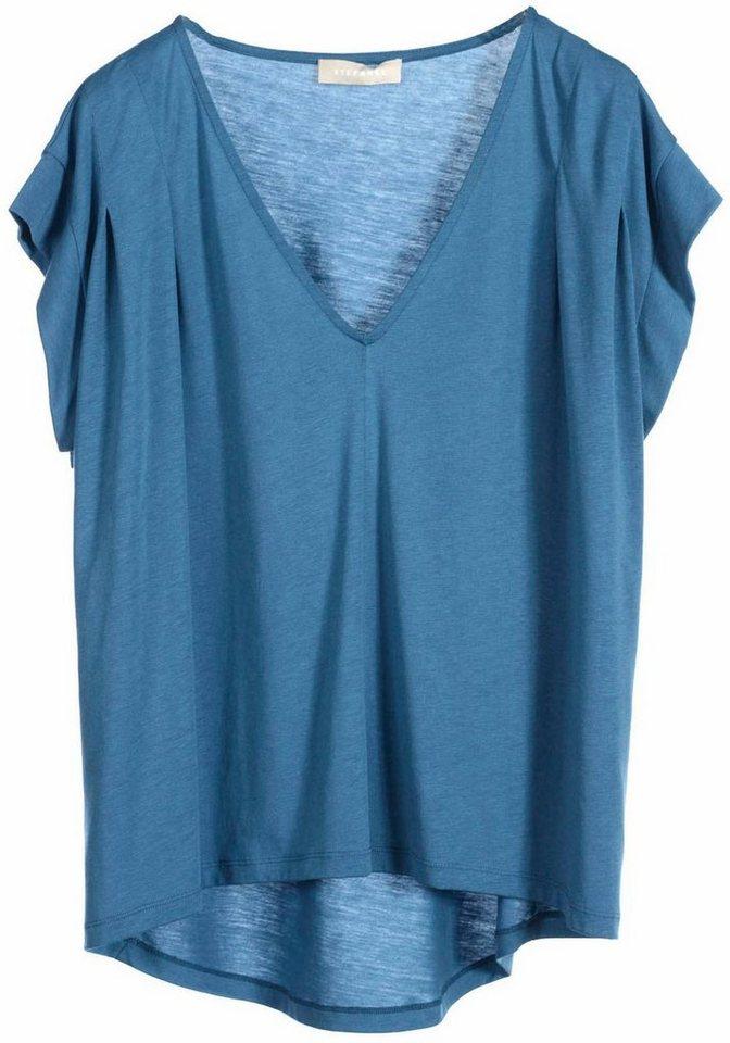 STEFANEL Oversize-Shirt in blau