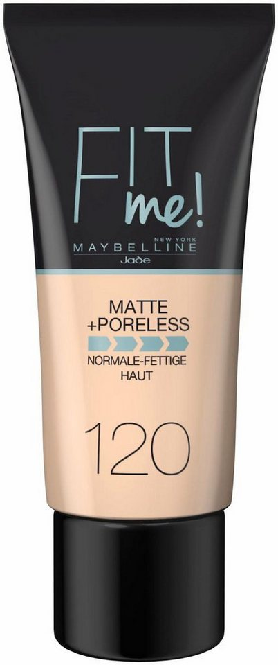 Maybelline New York, »Fit me! Matte+Poreless«, Make-up in 120 Classic Ivory