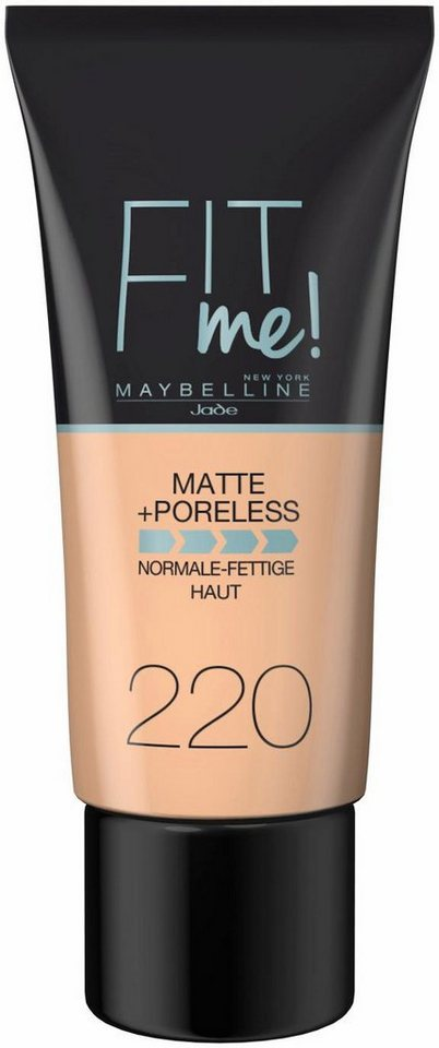 Maybelline New York, »Fit me! Matte+Poreless«, Make-up in 220 Natural Beige