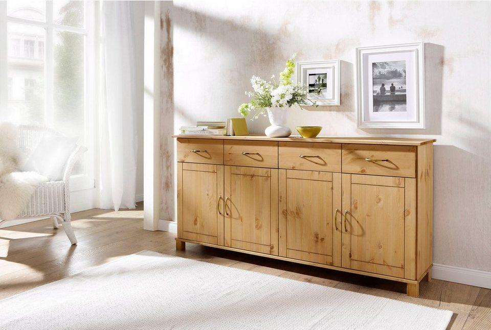 Home affaire Sideboard »Pivo«, Breite 156 cm in gelaugt/geölt