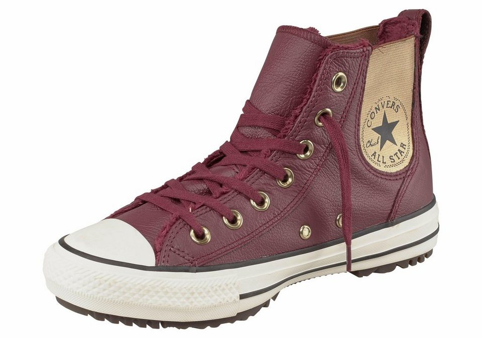Converse »CTAS Chelsea Boot« Sneaker Mit Fellimitat gefüttert in bordeaux
