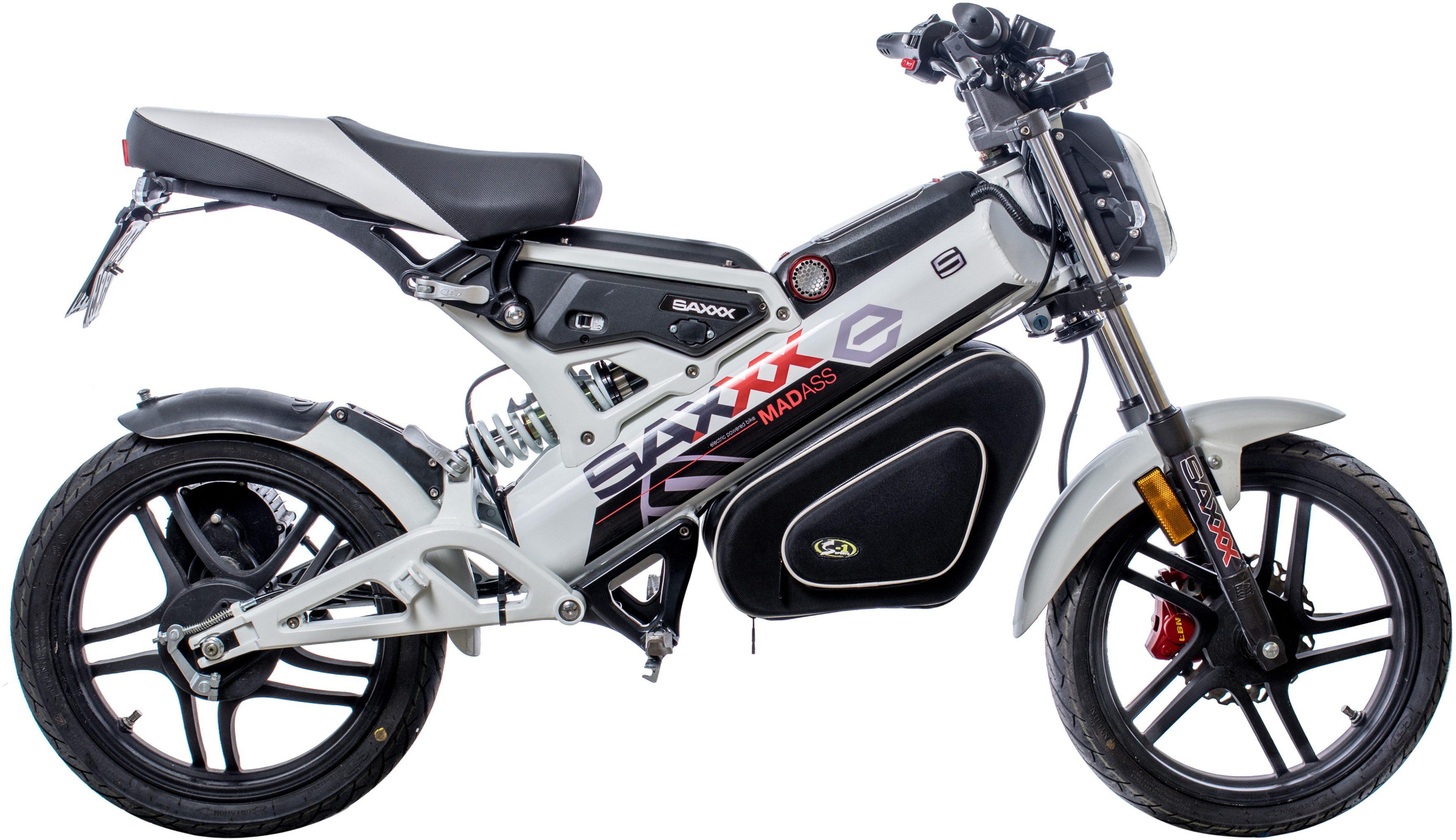SAXXX Elektro-Mokick 48V 28AH Lithium Akku, 1500W Motor, »MadAss E 45 Km/h«