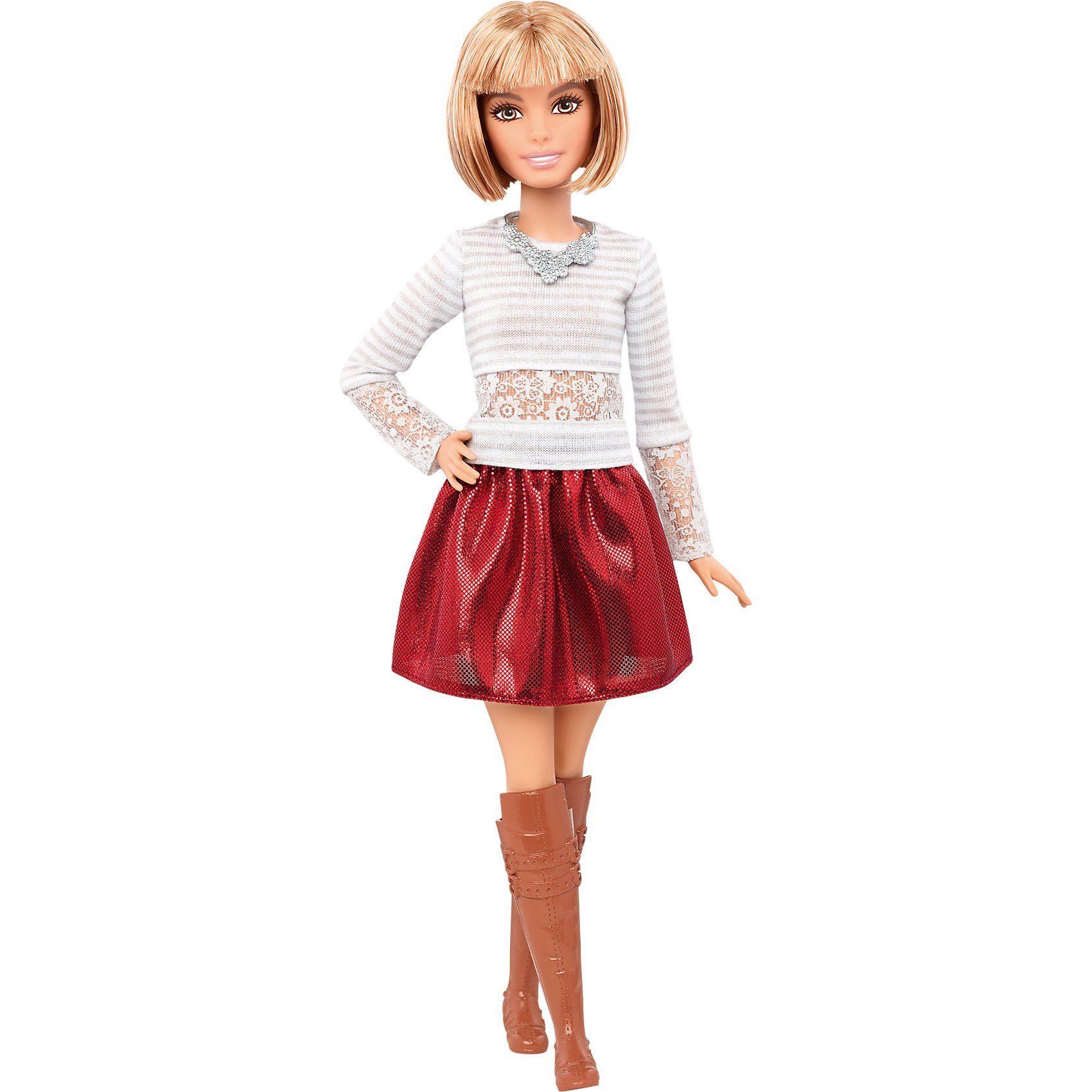Mattel Fashionista mit grauem Spitzen-Top